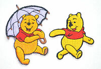 WINNIE THE POOH BEAR DISNEY APPLIQUE Embroidered Sew Iron On Cloth Patch Badge
