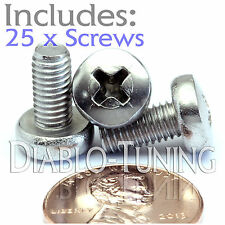 M5 x 10mm - Qty 25 - Stainless Steel Phillips Pan Head Machine Screws DIN 7985 A
