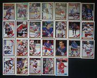 1991-92 Topps New York Rangers Team Set of 26 Hockey Cards