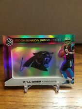 Will Grier 2019 Elements On Card Auto Rookie #15/15 RC Neon Signs Panthers
