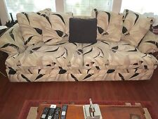 Sofa Bed & Loveseat, Color: Off White, Beige, Black, good condition.