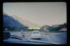 MIlano Road Sign and Car n Italy in 1970, Original Ektachrome Slide aa 1-11a