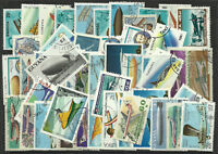 AIRCRAFT Packet of 100 Different Stamps AVIATION PLANES Collection