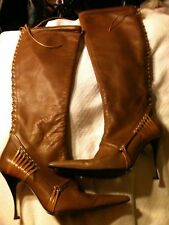 Gianfranco Ferre Size 9- 39 Italy Women's Leather Boots Worn Once Heels Classy