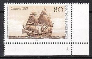 BRD 1983 Mi. Nr. 1180 Postfrisch Eckrand 4 Formnummer 1 TOP!!! (9886)