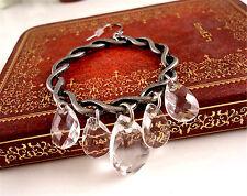 Boho silver white resin drop chandelier earrings