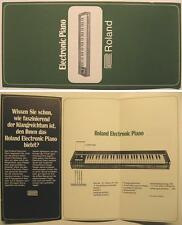 ROLAND ELECTRONIC PIANO FLYER / FALTBLATT