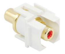 Recessed RCA keystone coupler - red