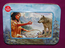 "#95508 WOLF AND MAIDEN  4"" X 6"" BLANK NOTE CARDS, ENVELOPES AND PHOTO FRAME TIN"