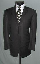 Outstanding Ermenegildo Zegna Solid Black Men Wool Suit Sport jacket 42 R