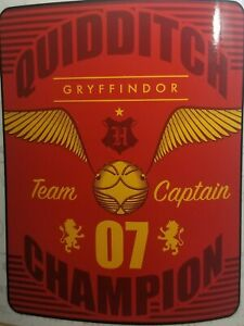 """Harry Potter """"QUIDDITCH"""" Silk Touch Sherpa Throw 40"""" X 50"""" ~ NEW"""