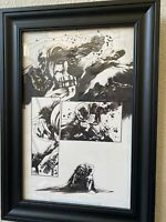 Jock All Star Batman #6 Original Art Scott Snyder Writer Great Action Best Page
