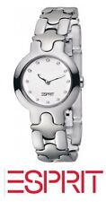 Authentic ESPRIT Ladies Watch Sweet Steel White + Free Esprit Bag