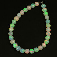 4.5mm Fine Ethiopian Crystal Opal Plain Round Beads 5 inch strand