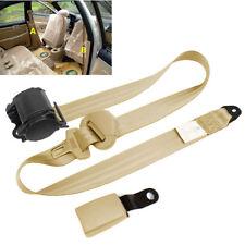 Beige Iron Plate Style 3 Point Adjustable Car Safety Seat Belts & Diagonal Belt
