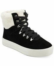 NEW Marc Fisher Daire Faux-Fur  Black Suede Sneaker Boots, Women Size 8.5, $149