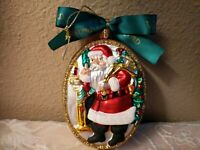 "Waterford Glass Holiday Heirloom Old World ""Santa was Here"" Christmas Ornament"