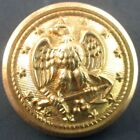 """Old Early Union US Navy Eagle Brass 1"""" Uniform Button Domed Unused G Hirsch Sons"""