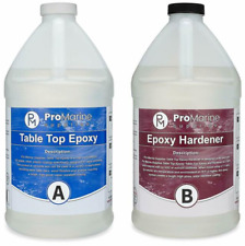 Crystal Clear Bar Table Top Epoxy Resin Coating For Wood Tabletop -2 Gallon Kit!
