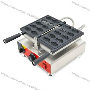 Commercial Nonstick Electric Mini Goldfish Waffle Baker Taiyaki Machine Maker