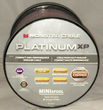 Monster Platinum XP Compact High Performance Speaker Cable 50ft/15.24m CLEAR