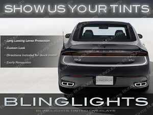 Lincoln MKZ / Zephyr Tinted Taillights Overlays Kit Smoked Vinyl Protection Film
