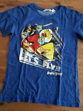 H&M Angry Birds Gr. 146/152 blau mit Print  Shirt kurzarm T-Shirt   TOP