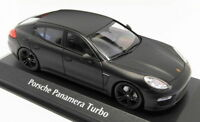 Maxichamps 1/43 Scale 940 062370 - 2013 Porsche Panamera Turbo - Matt Black