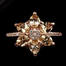 925 Silber Ring 54 (17,2 mm Ø), Rosegold beschichtet, Morganite & Cubic Zirconia