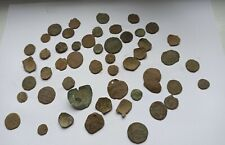 MIXED LOT OF 50 ANCIENT ROMAN AND BYZANTINE COINS UNCLEANED III-XII CENTURY
