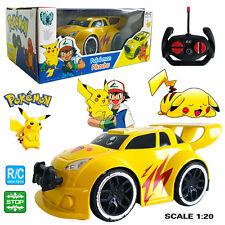 POKEMON GO PIKACHU ELECTRIC RC RADIO REMOTE CONTROL RACING CAR KID CHILD BOY TOY