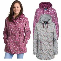 Trespass Womens Waterproof Wind Jacket Hooded Raincoat Floral Print
