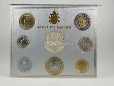 *** LIRE KMS VATIKAN 2000 BU Lira Coin Set Vaticano Münzen vor Euro ***