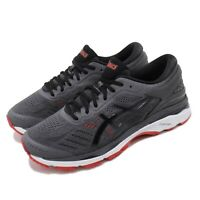 Asics Gel-Kayano 24 2E Wide FlyteFoam Grey Red Men Running Shoes T7A0N-9590