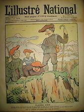 L'ILLUSTRé NATIONAL N° 39 HUMOUR CARICATURE ALPINISME DESSINS LEBEGUE 1903