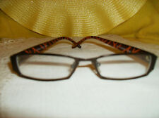#3A BROWN W/ Orange trim arms READING GLASSES COMFORT FIT readers 2.50 SALE! New