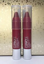 Lot (2) Clinique Chubby Stick Moisturizing Lip Colour Balms in Super Strawberry