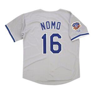 Hideo Nomo 1997 Los Angeles Dodgers Road Jersey w/ Jackie 50th Patch Medium