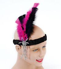 Onorevoli anni 1920 20 Cerchietto con piume perline 1930/'s 1920/'s Charleston Gatsby beads