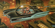 KEITH WEESNER POSTER PRINT SCI-FI ART SPACESHIP BLADE RUNNER PINUP HOT ROD SEXY