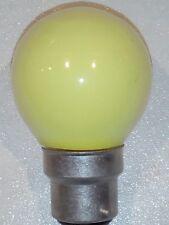 Ampoule sphérique incandescente B22 15W jaune poudré SUDRON guirlande Noël NEUVE