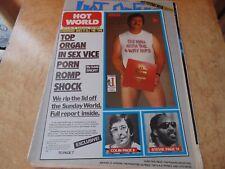 HOT PRESS 21/9/84. POGUES,STEVIE WONDER,BRIAN ENO,ULYSSES.