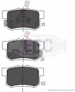 Genuine Omega Rear Disc Brake Pads Set BRP3234 Honda