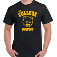 The College Dropout T-Shirt Mens Kanye West Drop Out Top