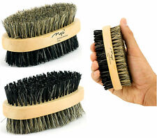 Men Boar Hair Bristle Beard Mustache Brush Soft Hard Palm Round Wood Handle New