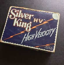 SILVERKING HV BOX AND BALLS, CIRCA 1930's, COLLECTABLE.