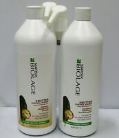 Biolage 3 Butter Control Shampoo & Conditioner 33.8 oz Liter Set + PUMPS Matrix