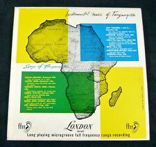 "Instrumental Music & Songs of Tanganyika Africa London LB-567 ©1952 10"" LP 33rpm"