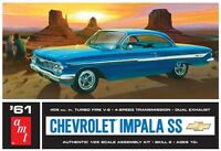 AMT 1961 Chevy Impala SS 1/25 scale model car kit new 1013