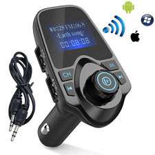 Bluetooth Car Kit FM Transmitter MP3 Player Wireless Radio Adapter USB Char